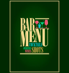 Restaurant or wine and cocktails bar menu design vector