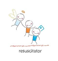 Resuscitator keeps patients picking up angel vector