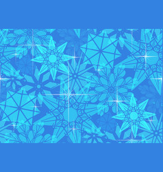 seamless pattern with transparent snowflakes and vector image vector image