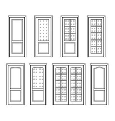 Set door interior vector