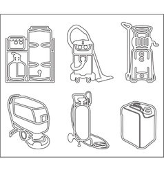 Set of cleaning equipment vector image