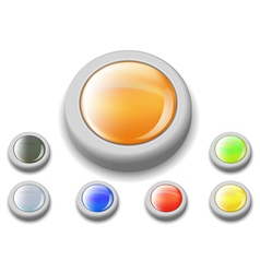 Shiny web buttons set vector image vector image