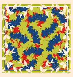 Silk scarf abstract vector