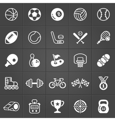 Sport and games icons trendy pack vector image vector image