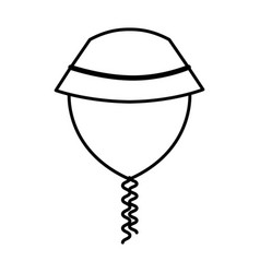 summer hat isolated icon vector image vector image