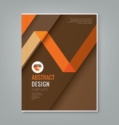 Abstract orange line design on brown background vector