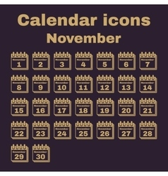 The calendar icon november symbol flat vector