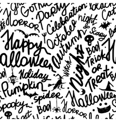 Halloween seamless pattern for your design vector