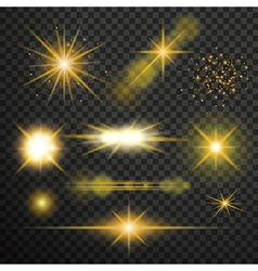 Transparent glow light effect vector