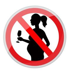 Pregnant women and alcohol vector