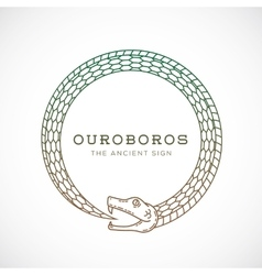 Abstract ouroboros snake symbol sign or a vector