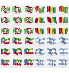 Burundi guinea equatorial guinea argentina set of vector