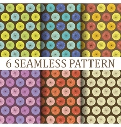 Set of six floral seamless patterns vector
