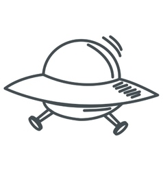 Alien spaceship icon vector