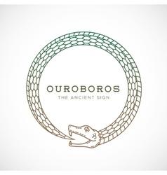 Abstract ouroboros snake symbol sign or a vector