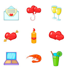 banket icons set cartoon style vector image vector image