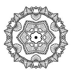 black floral mandala vector image
