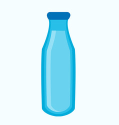 blue bottle with liquid vector image vector image