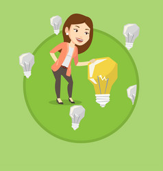 businesswoman having business idea vector image vector image