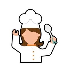 Chef cartoon icon Cooking and Menu design vector image vector image