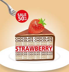 Chocolate strawberry 01 vector