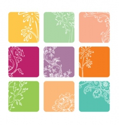 color squares vector image