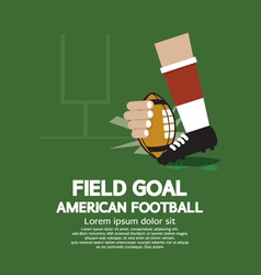 Field goal american football vector
