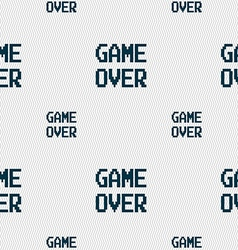 Game over concept icon sign seamless pattern with vector