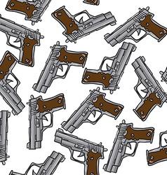 gun pattern vector image