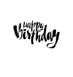 happy birthday lettering for invitation and vector image