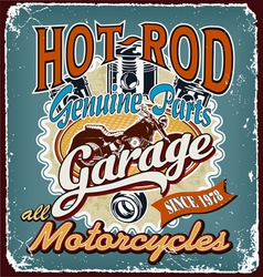 Hotrod motorcycles garage crack vector