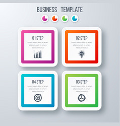 infographics template four options with square vector image
