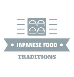 Japanese food logo simple gray style vector