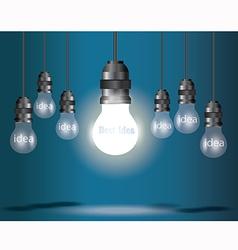 Lamp idea blue vector