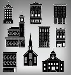 Main st buildings vector