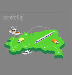 map brazil isometric concept vector image vector image