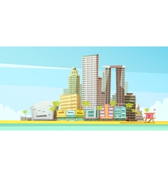 Miami Skyline Design Concept vector image