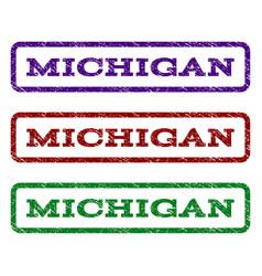 Michigan watermark stamp vector