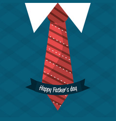 nice card with tie shirt and vest design vector image vector image