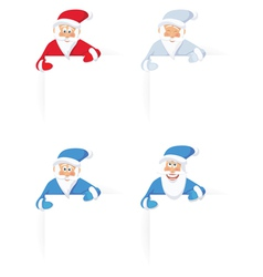 santa claus and blank sign vector image