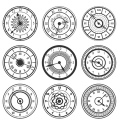 Set of ornamental watches vector image