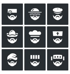 Set of profession people icons doctor vector