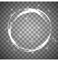Shiny circle frame on transparent background vector
