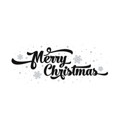 text on white background merry christmas vector image vector image