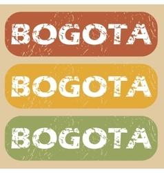 Vintage bogota stamp set vector