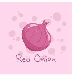 Red onion vegetable vector