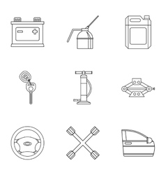 Renovation for machine icons set outline style vector