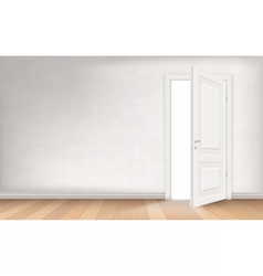 Light through open door vector