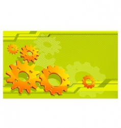 gears technical background vector image