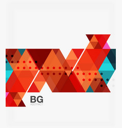 Triangles abstract background vector